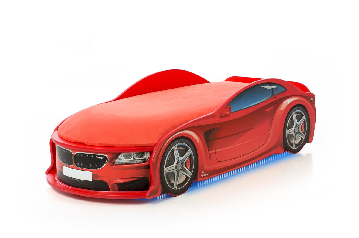 Кровать машина детская БМВ-М red
