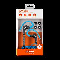 Проводные наушники ACME HE17B Sport Earphones/голубые