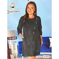 Женское платье для дома и отдыха, до колена. Турецкая фирма Cocoon. Больших размеров.