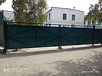 Ворота из профильного листа, фото 1