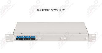 """Оптический кросс 19"""", 1U, укомплектованный на 16 портов LC/UPC"""