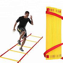 Координационная лестница 10 м для футбольной тренировки, развития скорости, фото 3