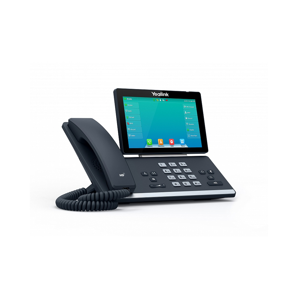 Yealink SIP-T57W SIP-телефон цветной сенсорный экран,16 аккаунтов,BLF,PoE,Wi-Fi,Bluetooth, без Блока питания
