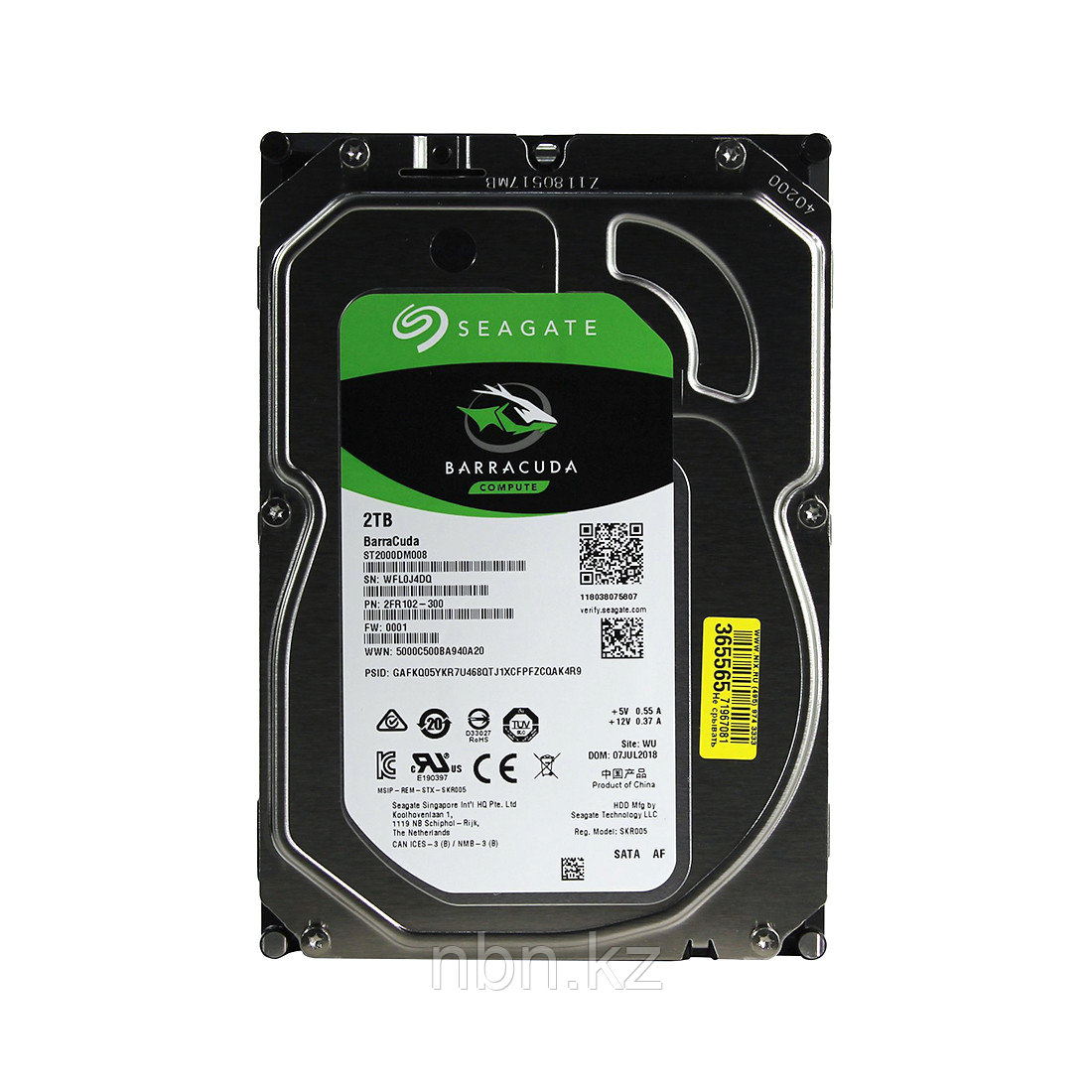 "Жесткий диск HDD 2Tb Seagate Barracuda SATA6Gb/s 7200rpm 256Mb 3,5"" ST2000DM008"
