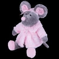 SOFTOY Мягкая игрушка Мышь в шубе, 26см