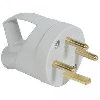 Розетка пластиковая 3К+З с кольцом - 20 А - выход кабеля сбоку