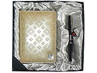 Набор: ручка шариковая, обложка для паспорта. Pierre Cardin, бежевый