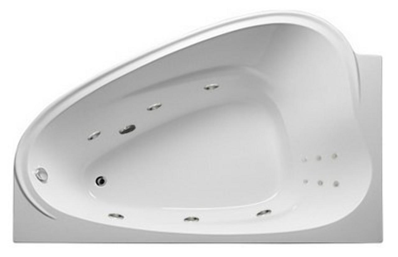 Акриловая гидромассажная ванна Love 185х135 см. .(Общий массаж, спина)