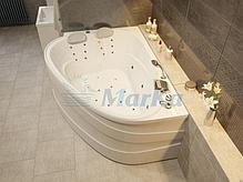 Акриловая гидромассажная ванна Love 185х135 см. .(Общий массаж, спина, ноги), фото 2