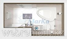 Акриловая гидромассажная ванна Love 185х135 см. .(Общий массаж, спина, ноги), фото 3