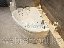 Акриловая гидромассажная ванна Love 185х135 см. .(Общий массаж, NANO массаж ), фото 3
