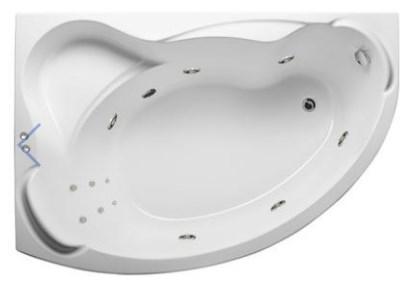 Акриловая гидромассажная ванна Катанья 160х110х63 см.(Общий массаж, спина), фото 2