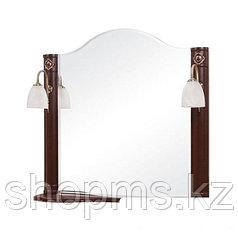 Я/Зеркало AQUARODOS Арт Деко 80 орех итал - зеркало настенное в комплекте с двумя подсветками ITEM