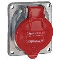 Встраиваемая розетка Hypra - IP 44 - 3К+З - 16 А - металл