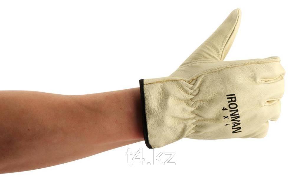 Перчатки рабочие кожаные - IRONMAN 4X4