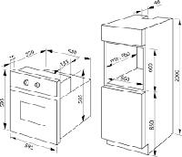 Встраиваемый электрический духовой шкаф Hansa BOES694600, фото 3