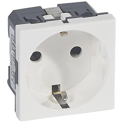 77210 Legrand Модуль розетки 2К+3, немецкий стандарт (Schuko), с винтовыми зажимами, белый, Mosaic, фото 2