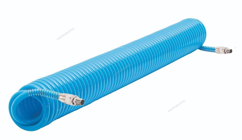 Шланг полиуретановый спиральный 8х12 мм, 15 м. NORDBERG HS0815PU