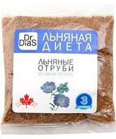 Отруби Dr.DiaS ЛЬНЯНЫЕ * МЕЛКИЙ ПОМОЛ * 100 гр. (Канадский лен) (№ 3)