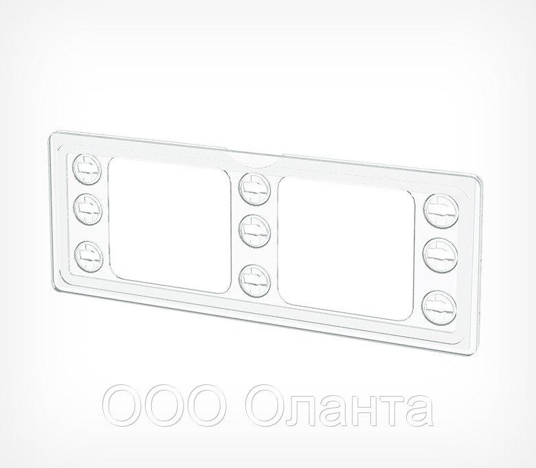 Рамка пластиковая с закгругленными углами 1/4 А4