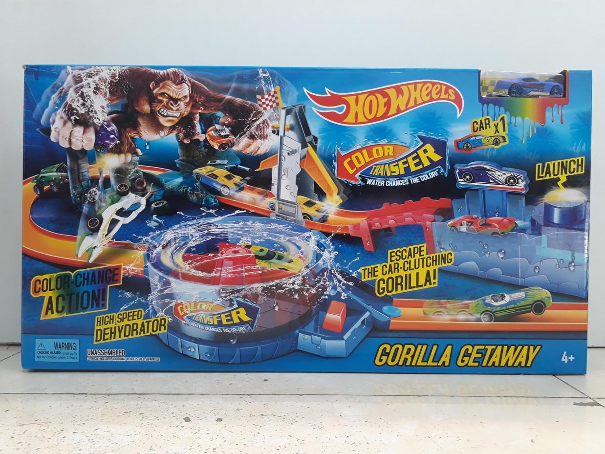 Трек Hot wheels - Gorilla Getaway Track Builder. Атака гориллы. Хот вилс.