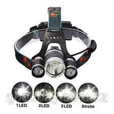 Сверхмощный налобный фонарь Boruit HL-720, фото 2