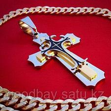 Steel Rage (Стил Рейдж) мужской крест с цепочкой, фото 3