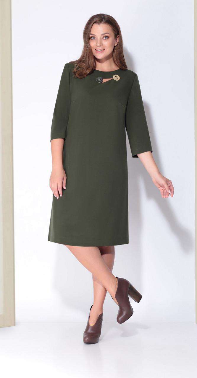Платье КаринаДелюкс-В-184, хаки, 50