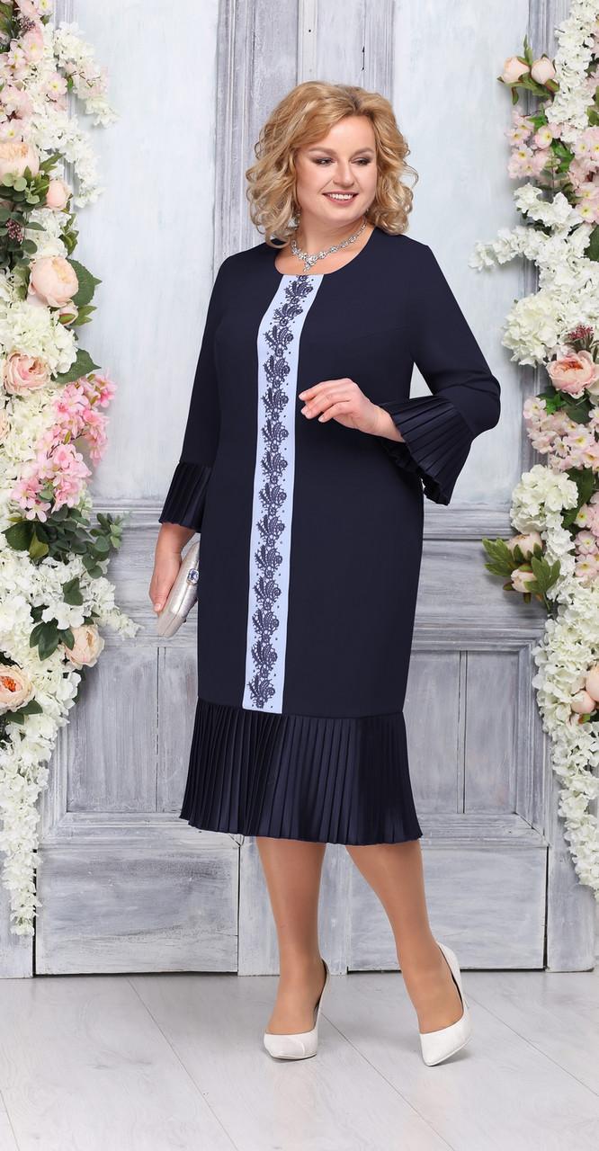 Платье Ninele-2226, темно-синий, 56