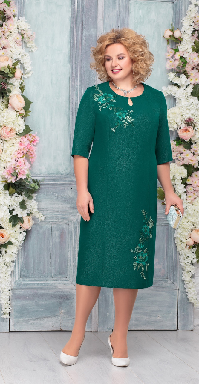 Платье Ninele-2227, изумруд, 58