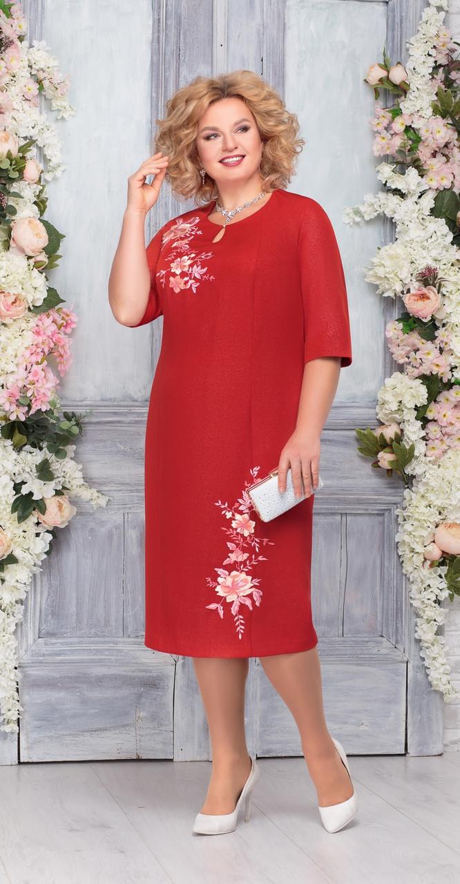 Платье Ninele-2227/1, красный, 58