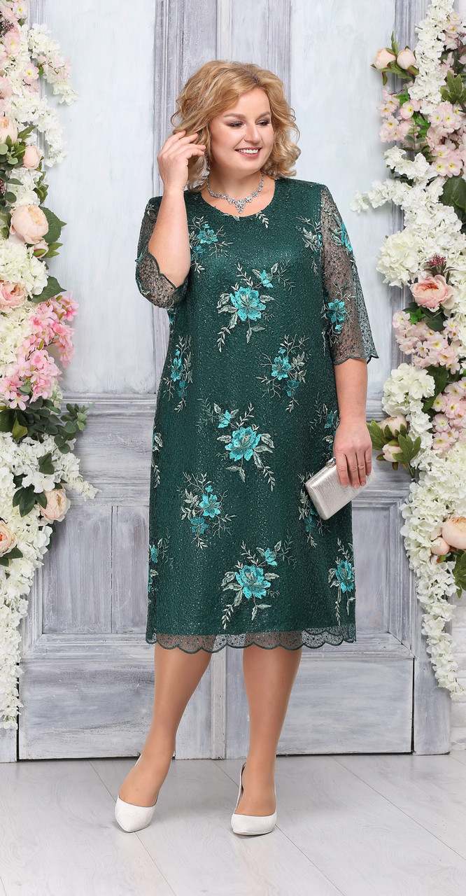 Платье Ninele-2230, изумруд, 58