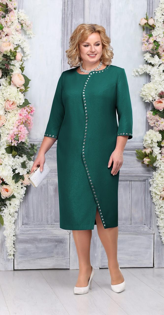 Платье Ninele-5742, изумруд, 56