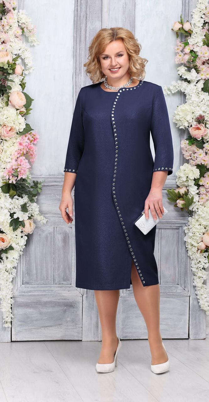 Платье Ninele-5742/2, темно-синий, 56