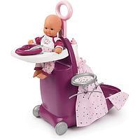 Smoby Набор для кормления и купания пупса в чемодане Baby