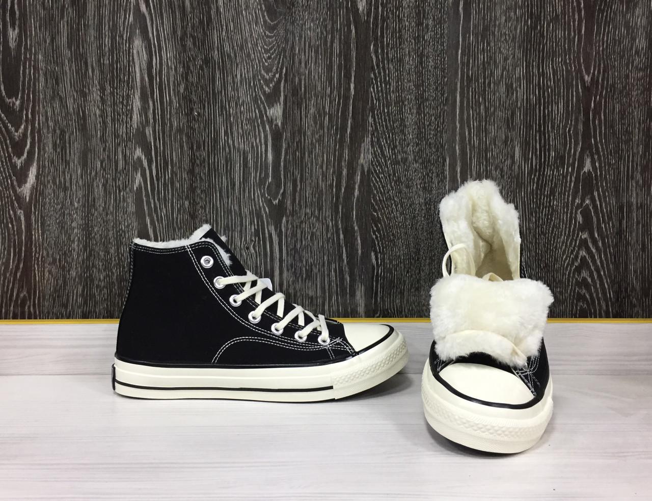 Зимние Кеды Evenstar (Black) +Мех