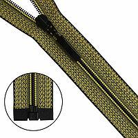 Молния 'витая' - 70см, разъёмная Arta-F чёрно-жёлтая