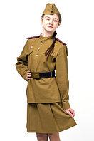 Форма офицера пехоты для Девочки (Полный Комплект)  на рост 140 См