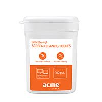 Средство для очистки офисной техники ACME CL02 Cleaning Wipes for TFT/LCD Screen 100 pcs, wet