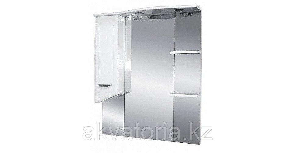 """Шкаф-зеркало """" ДРЕЯ"""" 85см с подсветкой, бел."""