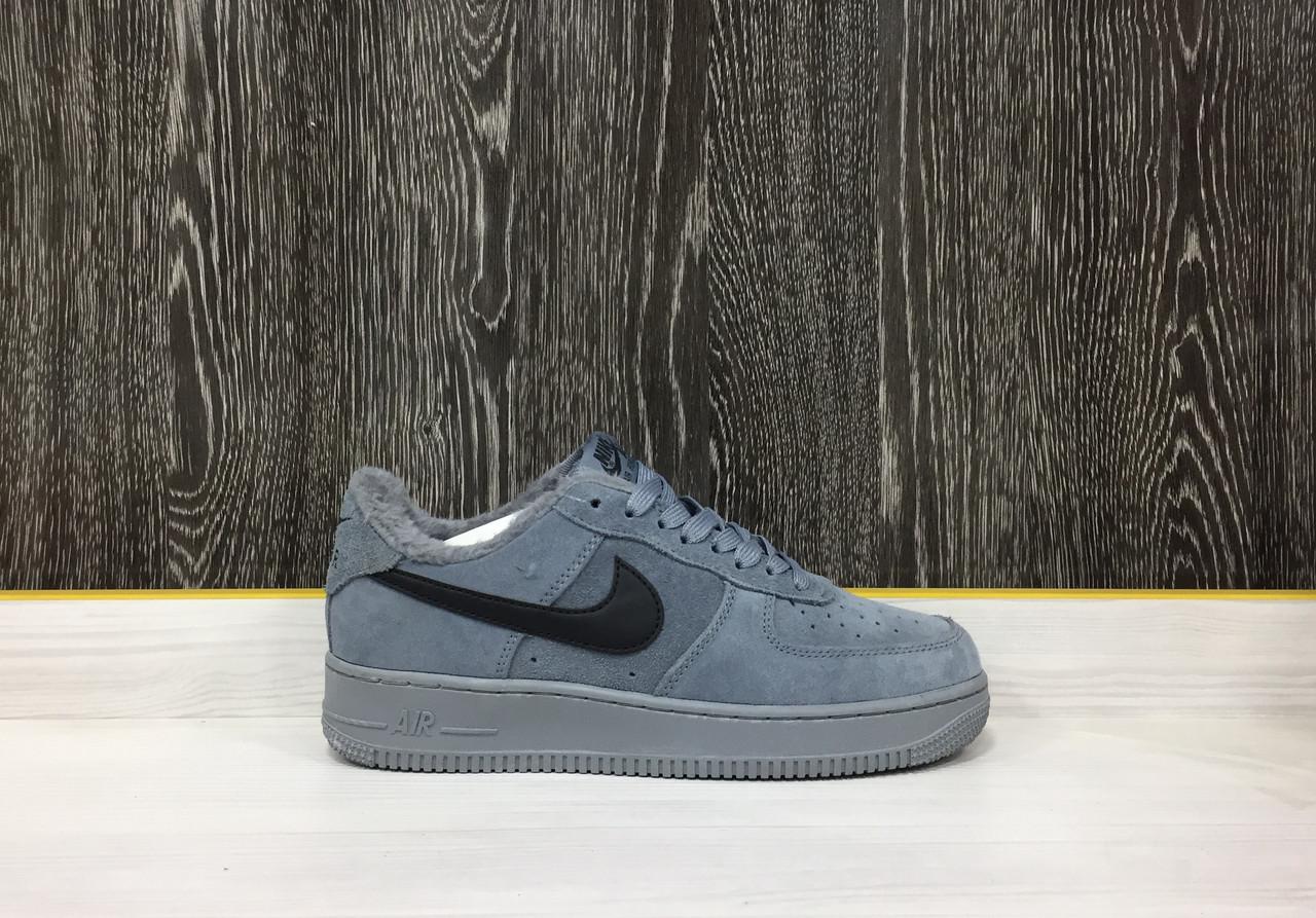 Кроссовки Зимние Nike Air Force 1 Winter (Grey)