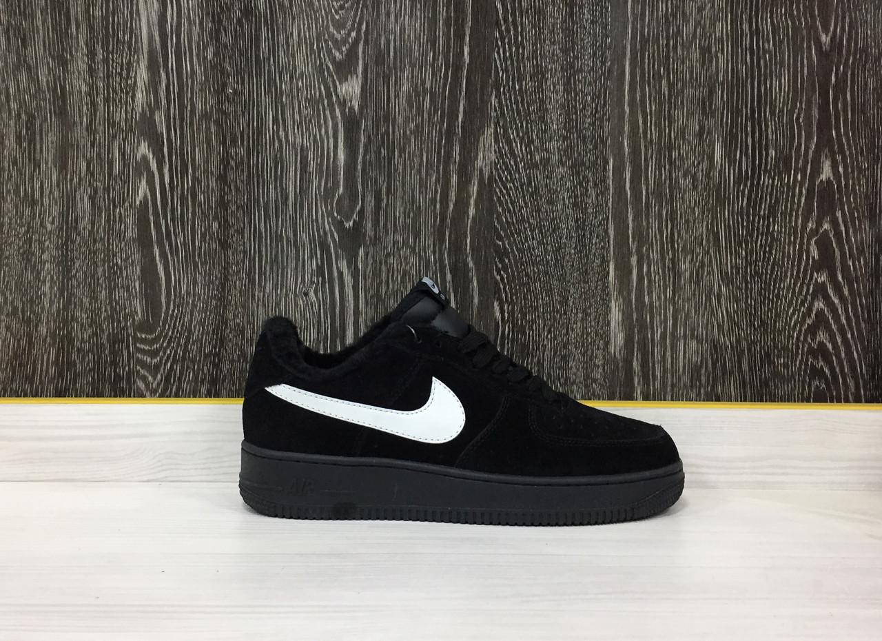 Кроссовки Зимние Nike Air Force 1 Winter (Black)