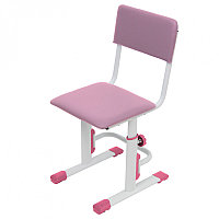 Стул для школьника регулируемый Polini City / Polini Smart L белый-розовый