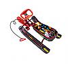 Снегокат Ника Тимка спорт 2 с роботом бордовый каркас