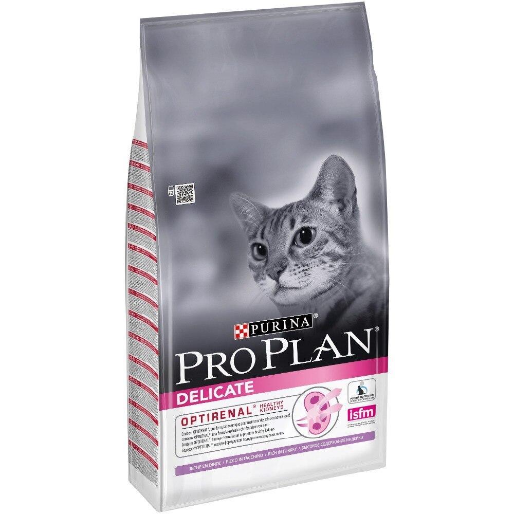 Сухой корм для кошек с чувствительным пищеварением ПроПлан с ягненком