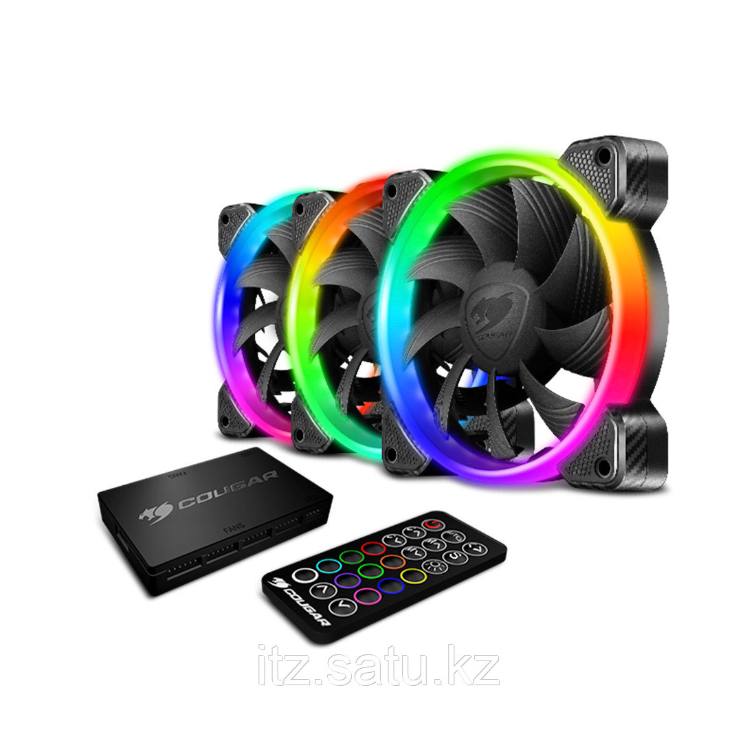 Комплект кулеров для компьютерного корпуса Cougar VORTEX HPB RGB COOLING KIT - 3 в1