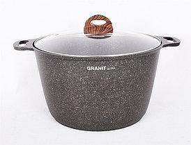 """Кастрюля 10 литров со стеклянной крышкой, """"Granit ultra"""""""