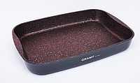 "Противень 365х260х55, АП линия ""Granit Ultra"" (red)"