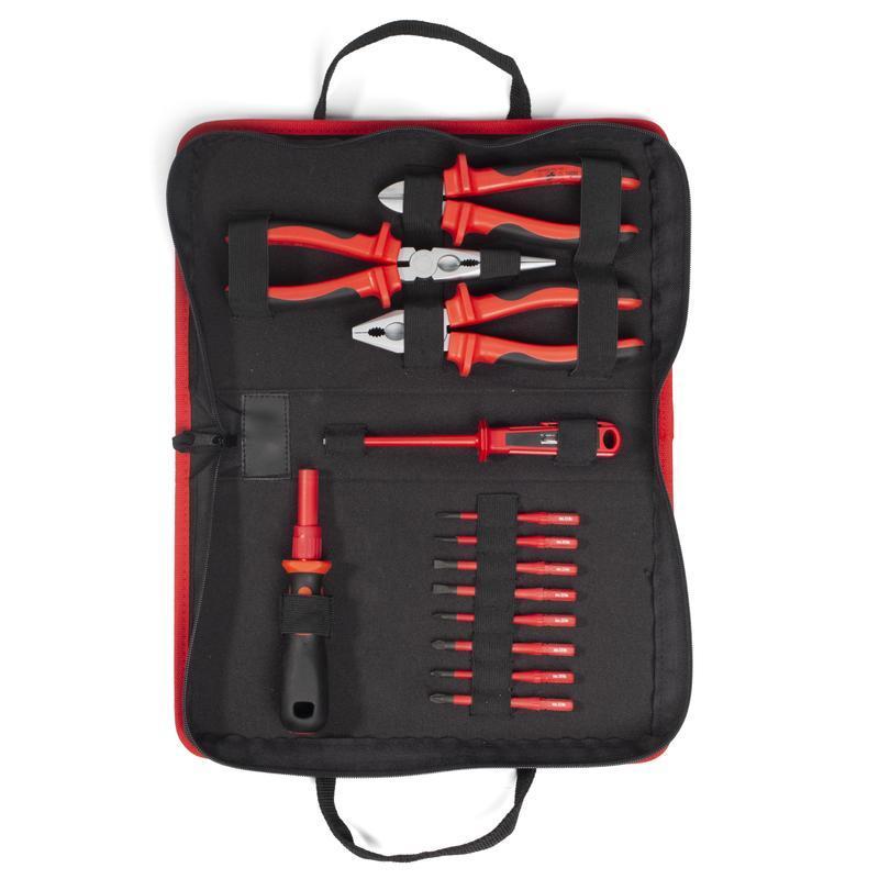 Профессиональный набор диэлектрического инструмента электрика, 13 предметов, серия «СЛИМ»