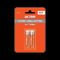 Батарейка алкалиновая ACME LR03 Alkaline Batteries AAA/2pcs